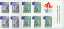 Aus SG2932a-3a International Post: World Youth Day set of 2 self-adhesive booklet panes (SB266-7)